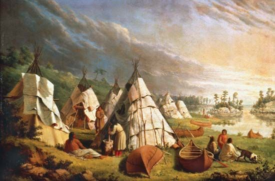 paintings of historical and romanticised american indians and ...