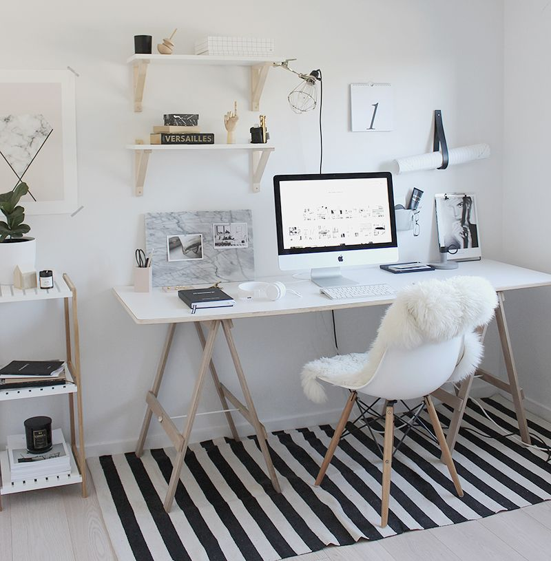 Simple Workspace Styling (The Design Chaser) House, Room and Woods