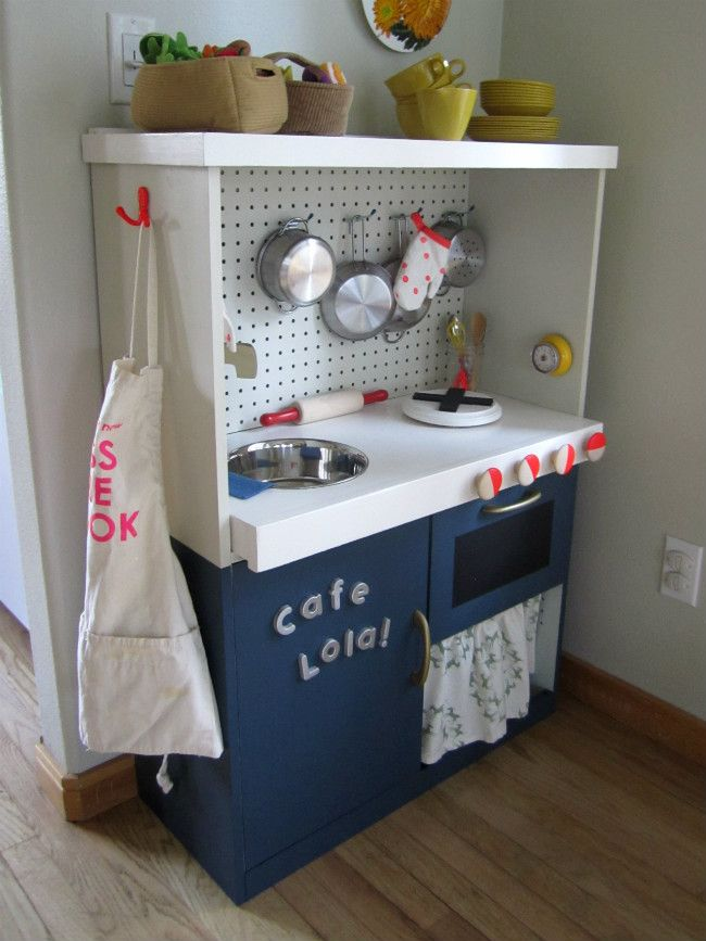 A Lovely Lark Play Kitchen Before After Diy Play Kitchen