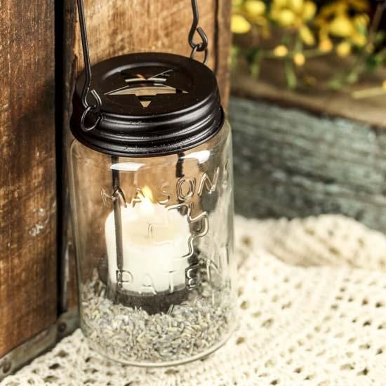 Mason Jar Tealight Candle Lantern Mason Jars Pinterest Jar