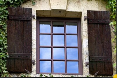 rustic exterior barn wood shutters online - Google Search | Rustic ...