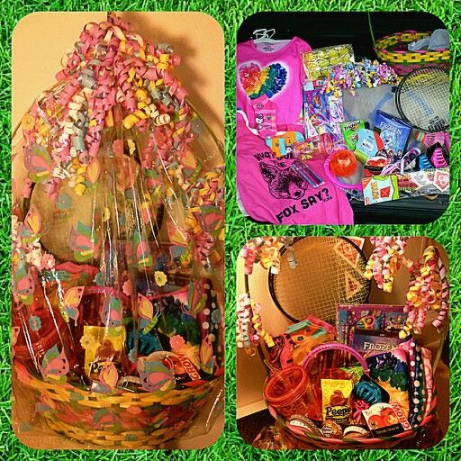 Mostly Non Candy Easter Basket For 7 8 Year Old Girls Easter Basket Crafts Easter Baskets Candy Easter Basket