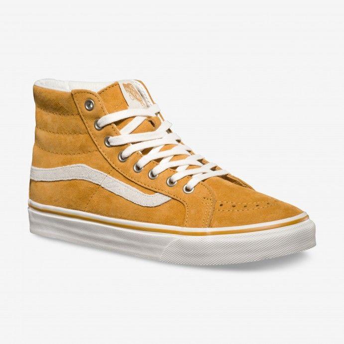 Vans Sk8-Hi Slim Scotchgard Shoes YELLOW