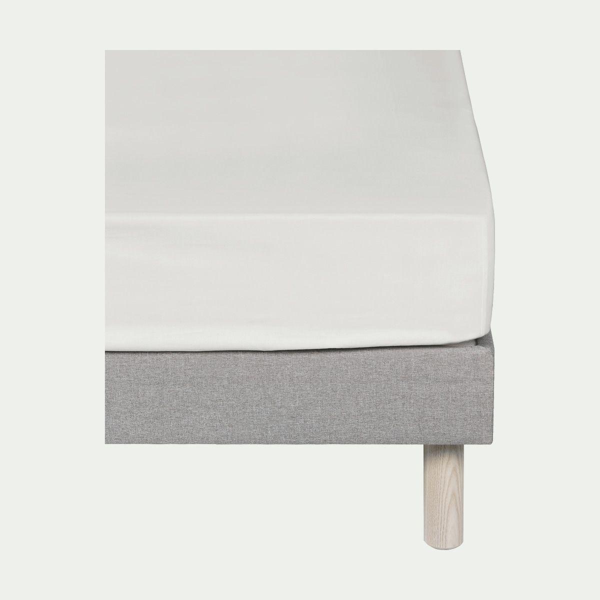 Drap Housse En Percale De Coton Blanc Ventoux 140x200cm Bonnet 25cm Alinea En 2019 Drap Housse Percale De Coton Et Drap