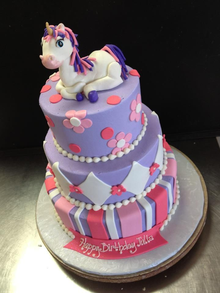Peachy Unicorn Pink And Purple Cake Designed By Sam Lucero Blue Cake Funny Birthday Cards Online Benoljebrpdamsfinfo
