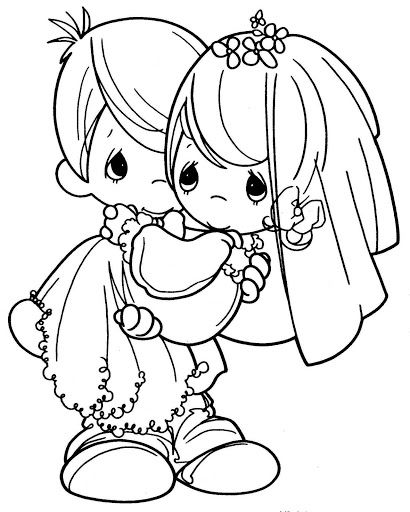 Newlyweds Free Printable Pages Coloring Pages Precious Moments Coloring Pages Wedding Coloring Pages Coloring Books