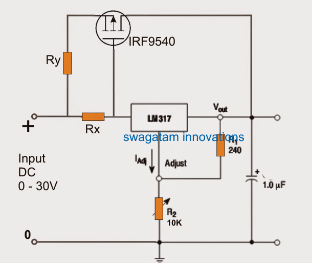 LM317 outboard boost mosfet application circuit in 2019