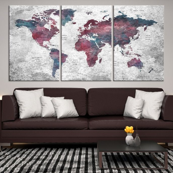 38212 large wall art push pin world map canvas print extra large 38212 large wall art push pin world map canvas print extra large world map gumiabroncs Image collections