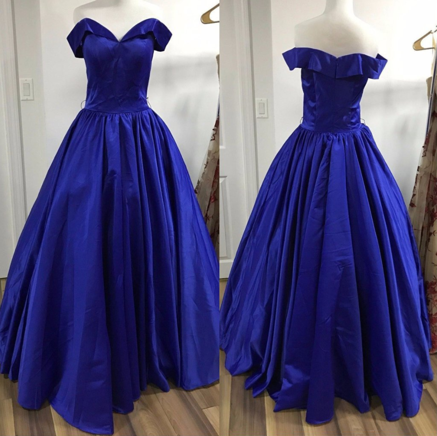 Charming prom dressdark blue prom dress long evening evening