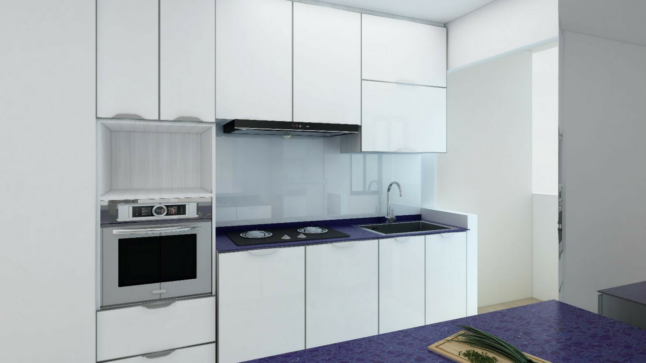 Aluminium kitchen cabinet singapore contractor house of countertops