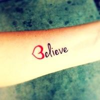Sexy Side Rib Quote Tattoos for Girls - Hot Pink Side Rib Quote... - Tattoo - Sexy: