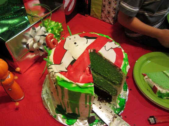 When youre making a Ghostbuster cake go all out and color the