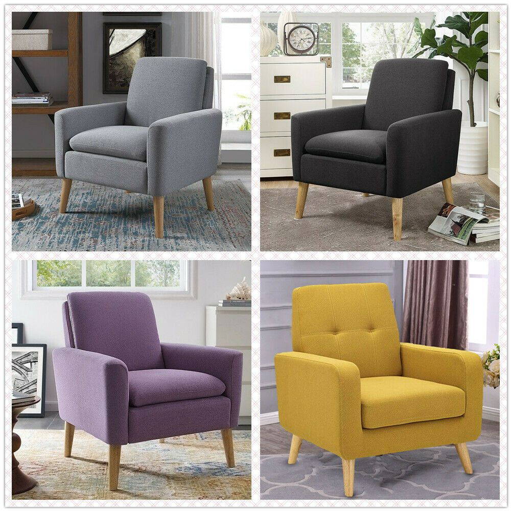 Modern Accent Fabric Chair Single Sofa Comfy Upholstered Arm Chair Living Room Sofa L Blue Chairs Living Room Living Room Sofa Comfortable Living Room Chairs