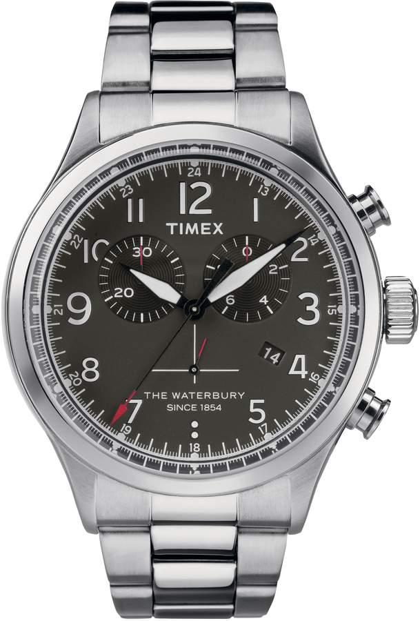 945e2744cf8e Timex R) Waterbury Chronograph Bracelet Watch