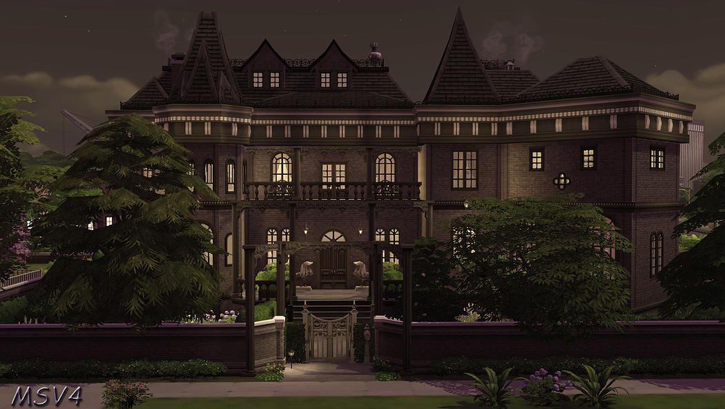 Manine Sim Vallée   Maison sims, Le manoir, Sims