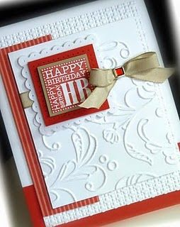 Embossed bday card