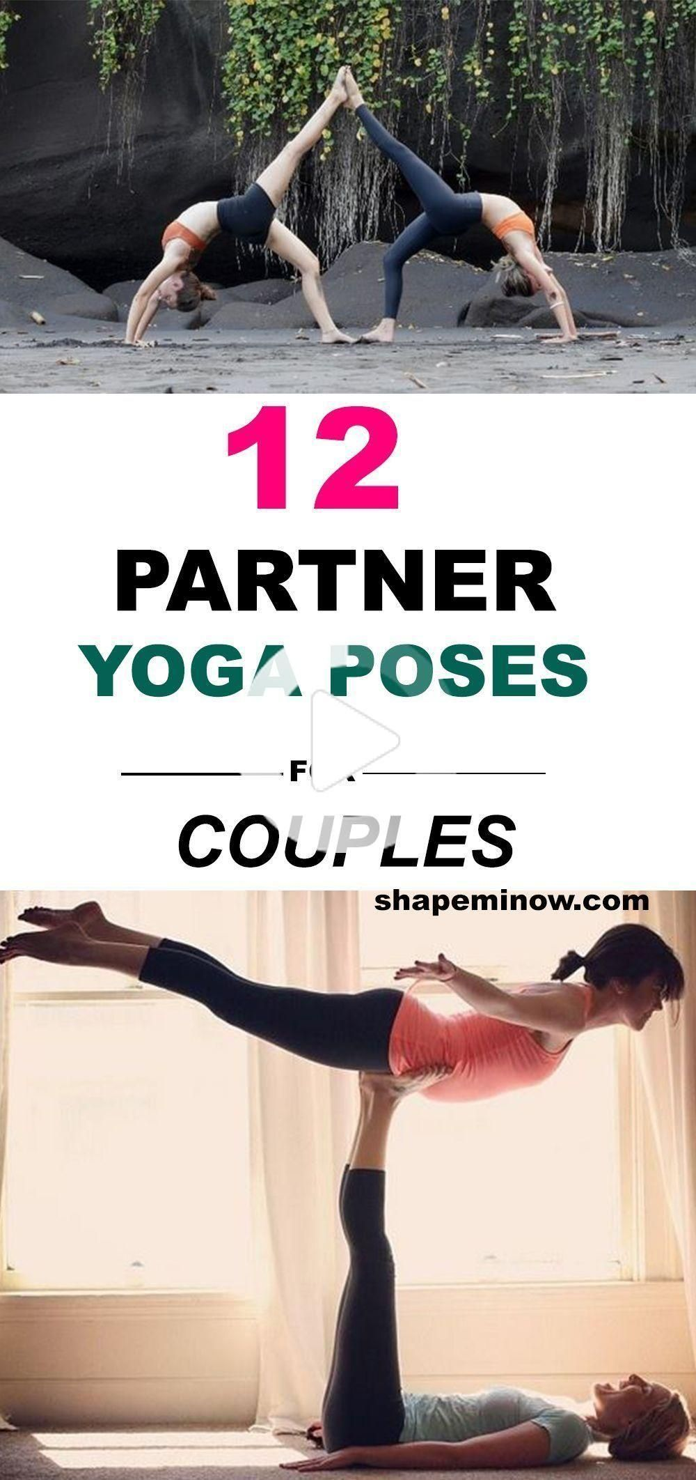 12 Easy Yoga Poses For Two People Friends Partner Or Couples In 2020 Yoga Poses For Two Easy Yoga Poses Cool Yoga Poses