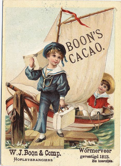 Boon's Cacao vintage advertising card