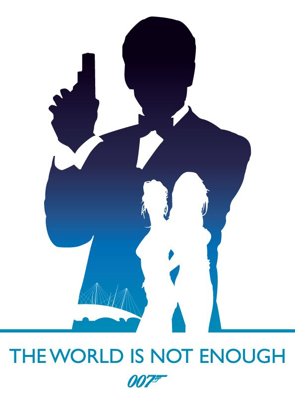 The World Is Not Enough Minimalist Movie Poster Artwork By Phil
