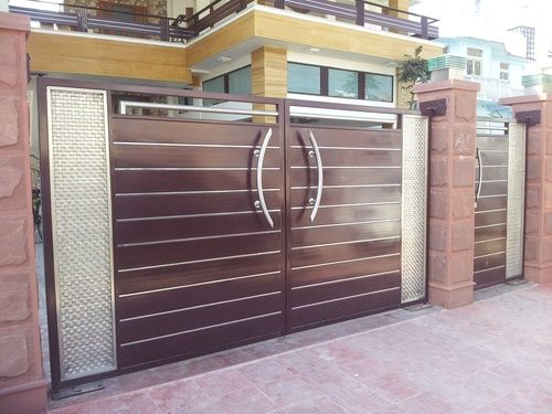 The 25 best main gate design ideas on pinterest main gate house main door design and wooden - Wooden main gate design for home ...