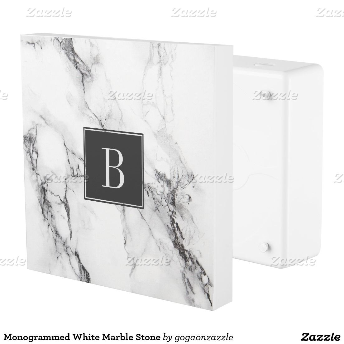 Monogrammed White Marble Stone Outlet Cover   Outlet Covers ...