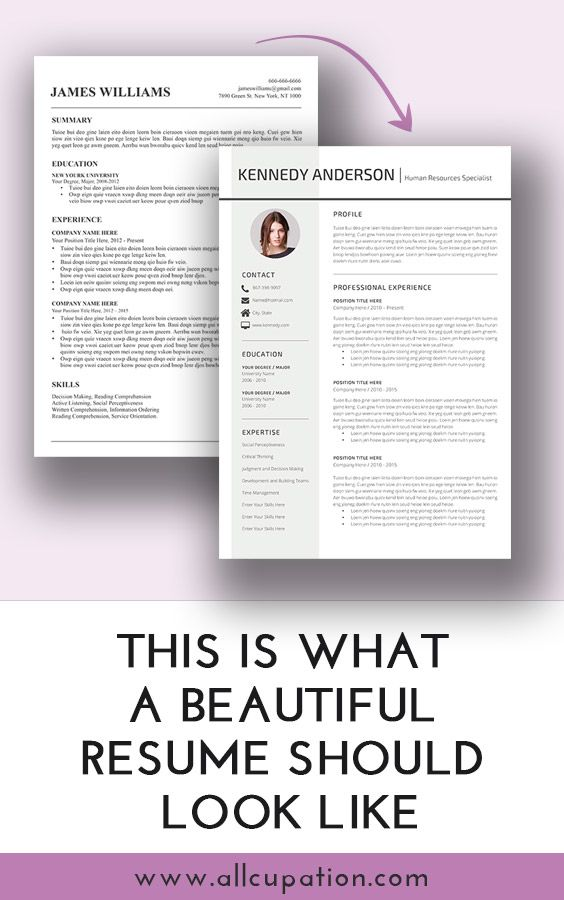 This is a good resume should look like Visit wwwallcupation - what a resume should look resume