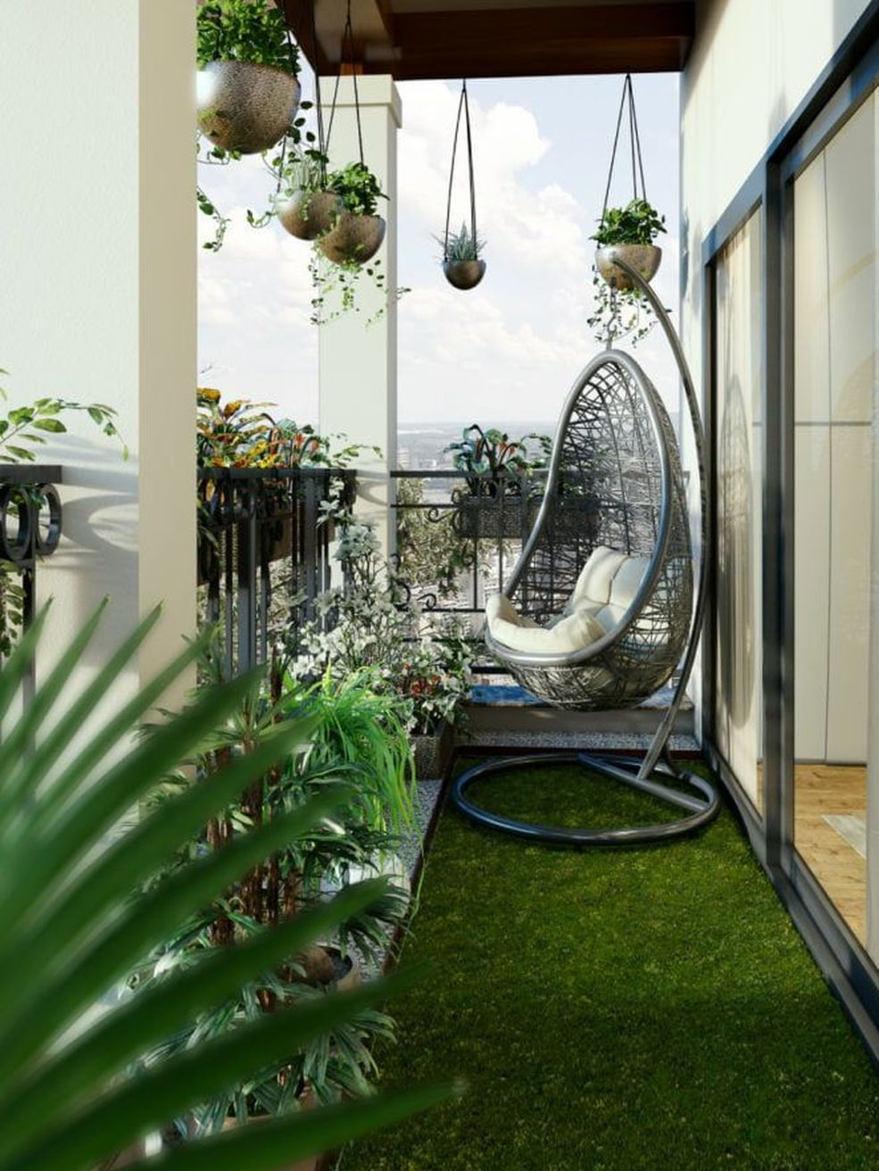 60 Small Apartment Balcony Garden Design Ideas Terrace Decor Small Balcony Design Apartment Balcony Garden