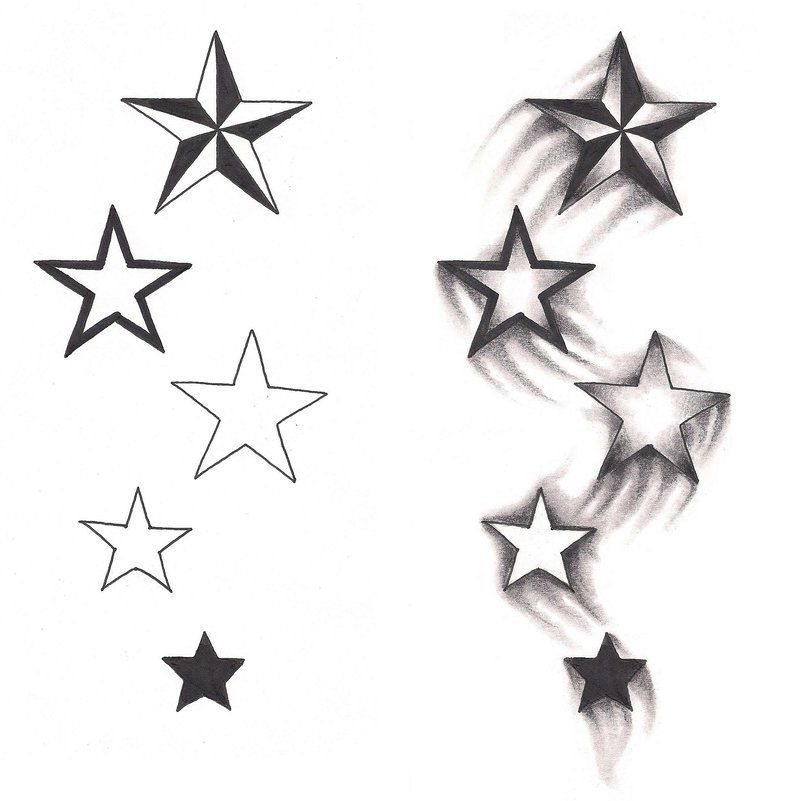 Tattoo Ideas With Stars: Freebies Shooting Stars Tattoo Design By TattooSavage On