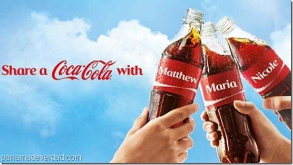 Coca Cola aumentó sus ganancias gracias a los nombres propios - http://panamadeverdad.com/2014/09/28/coca-cola-aumento-sus-ganancias-gracias-los-nombres-propios/