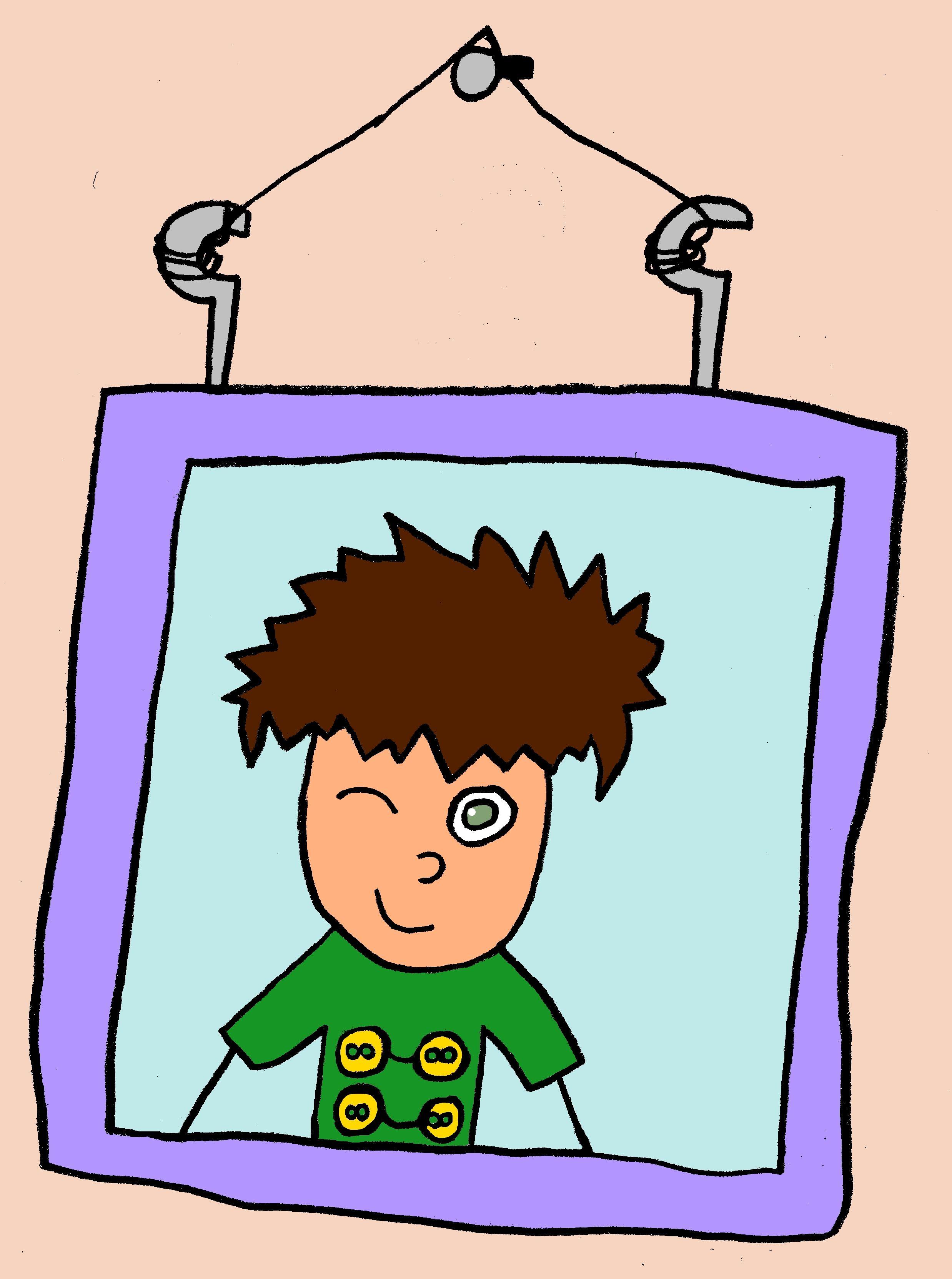 Zelf je eigen portret tekenen in grappige tekenstijl for Eigen badkamer tekenen