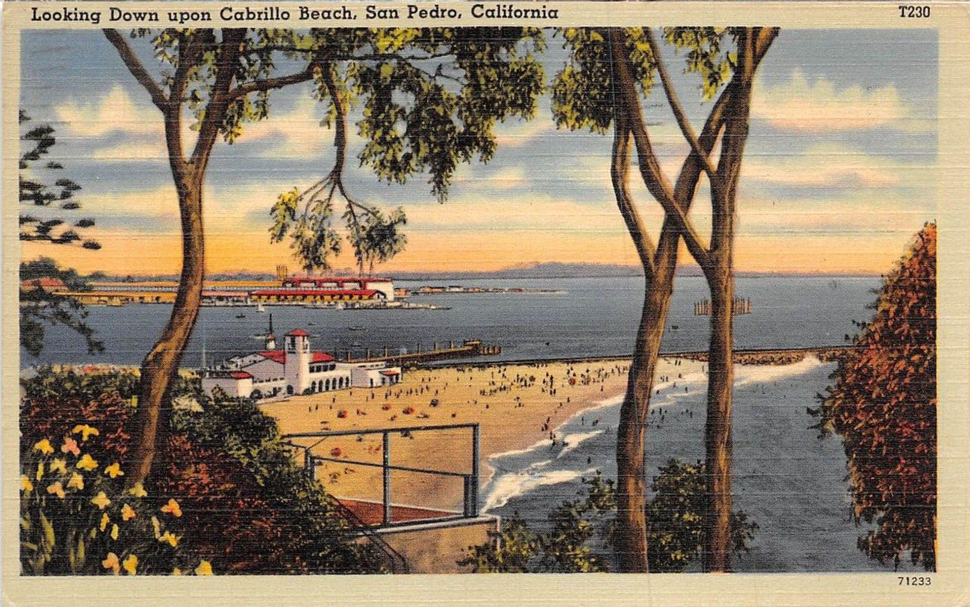 Old San Pedro Postcard San Pedro Old Postcards California Dates