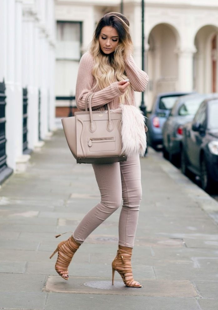 Pretty Ways to Wear Soft and Girly Blush Outfits | Sweater weather ...
