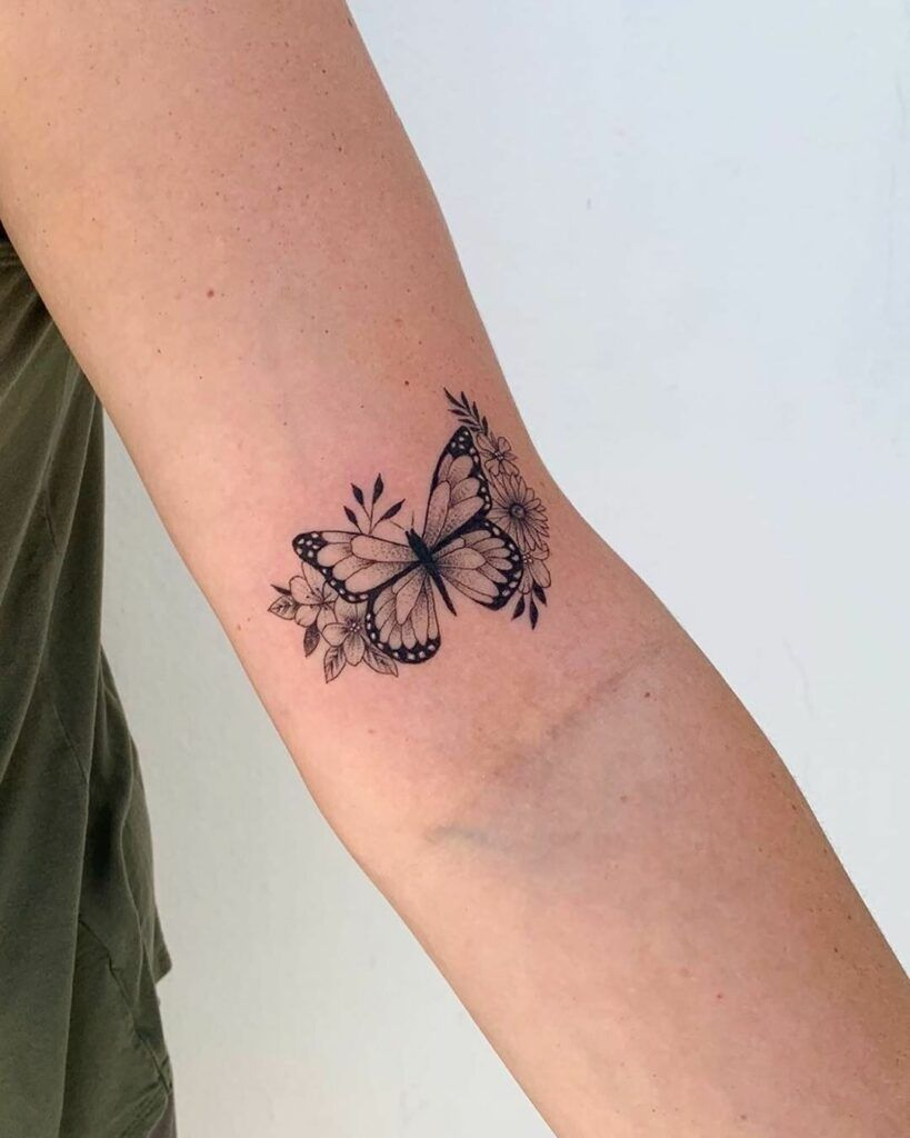 45 Wonderful Butterfly Tattoo Ideas For Tattoo Lovers Let Those Creative Juices F Unique Butterfly Tattoos Tiny Tattoos For Girls Butterfly Tattoo Designs
