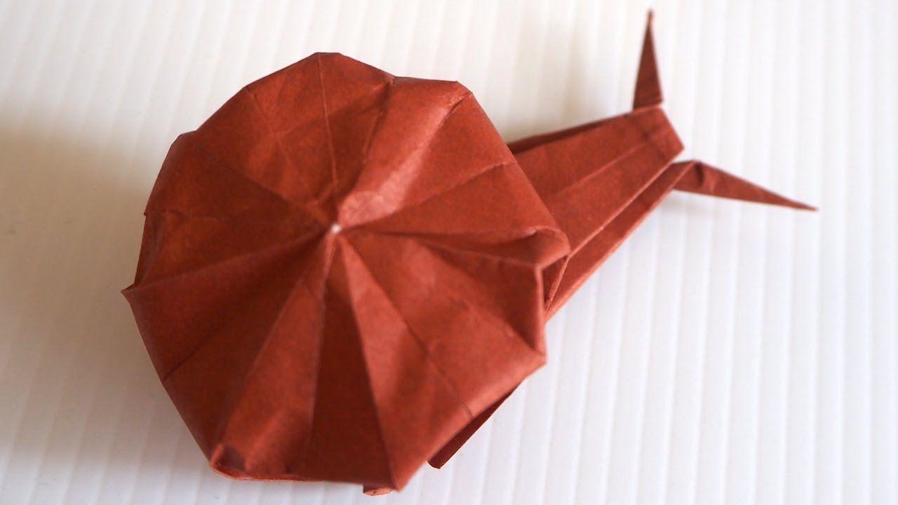 Kids Origami Snail Tutorial Origami Kids Origami Origami Easy