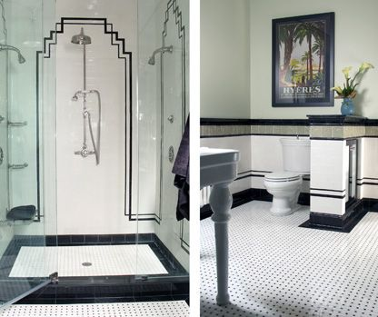 Art Deco Bathroom Style Guide | Art deco, Art deco bathroom and ...