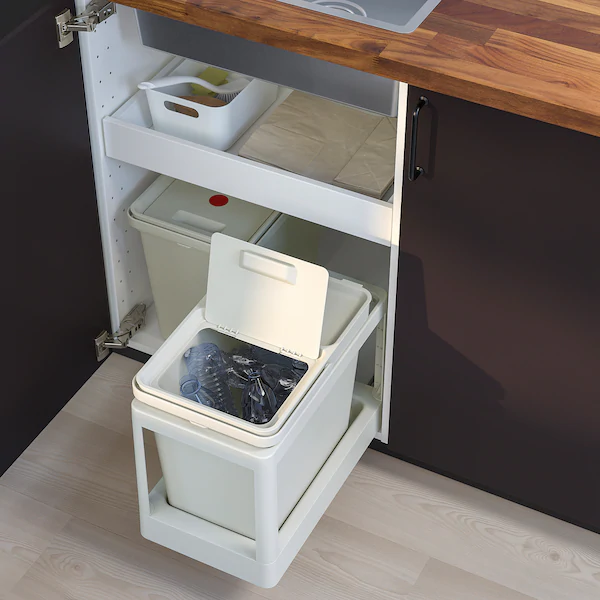 Hallbar Solucion Clasificacion Residuos Extraible Gris Claro Volumen 22 L Ikea In 2020 Ikea Recycling Station Recycling