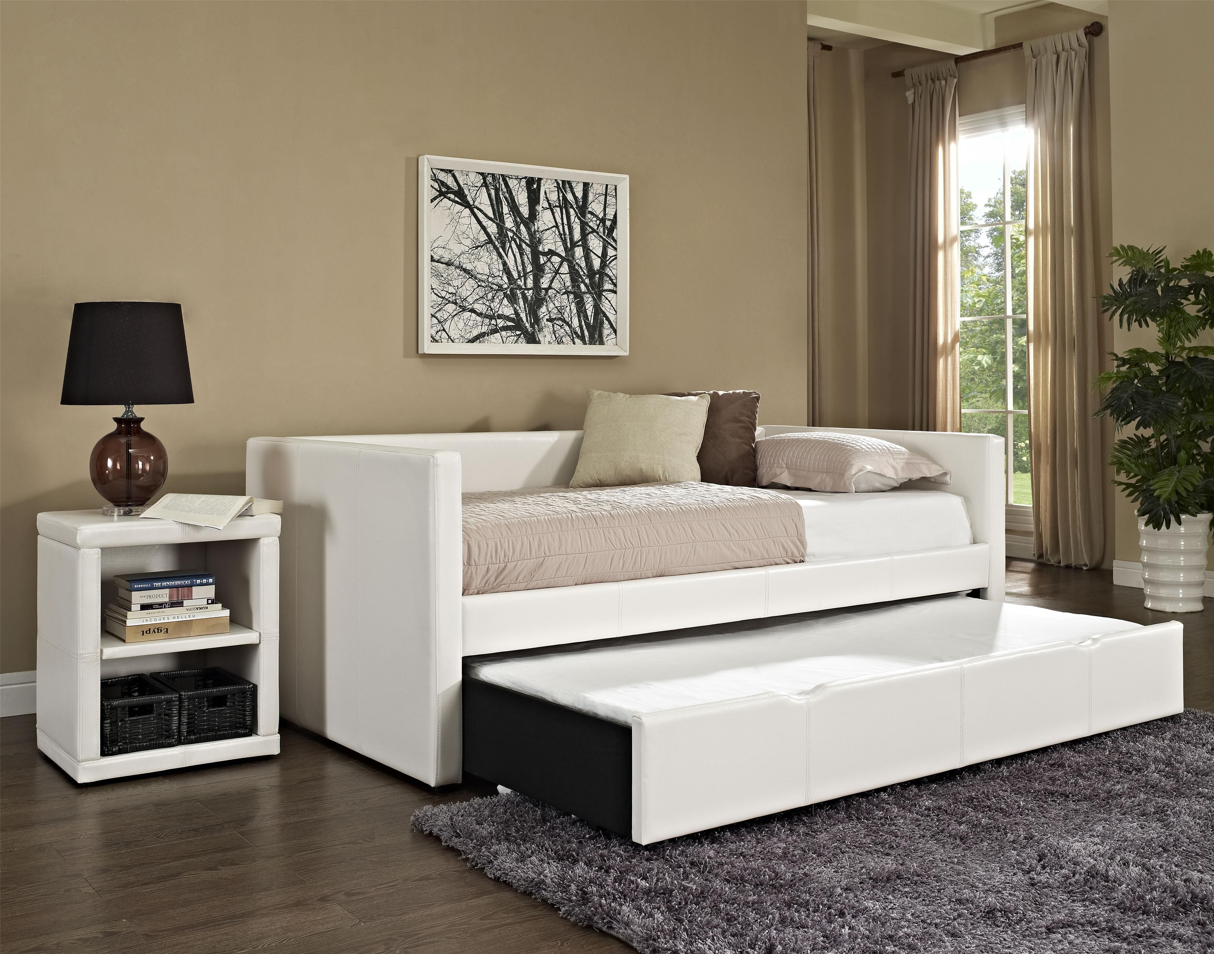 Furniture Sweet Daybed With Trundle In White Nuance Plus Square