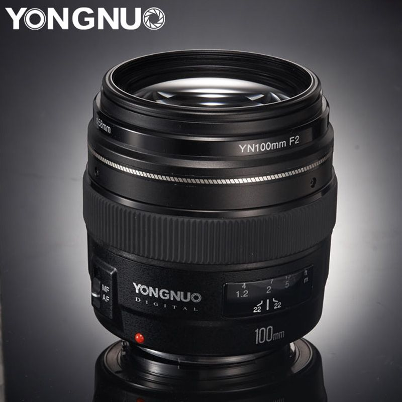 Yongnuo Yn100mm 100mm F2 Large Aperture Af Mf Medium Telephoto Prime Lens Fixed Focus Lens For Canon Dslr Eos Camer Canon Lens Canon Camera Tips Camera Reviews