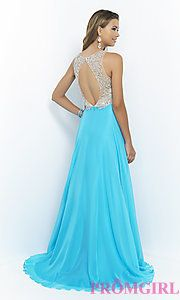 Buy High Neck A-Line Gown 9917 by Blush at PromGirl