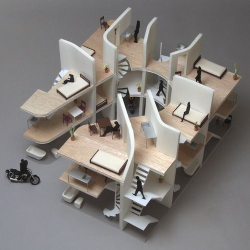 moto mucci daily inspiration japanese architects design biker apartment building like this - Architects Design