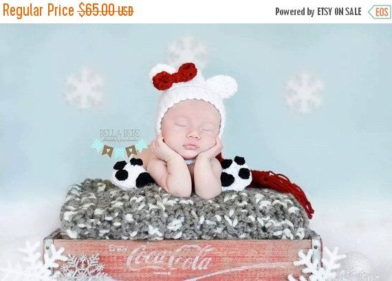 Newborn coke cola poler bear baby coke cola by Jensknottydesigns