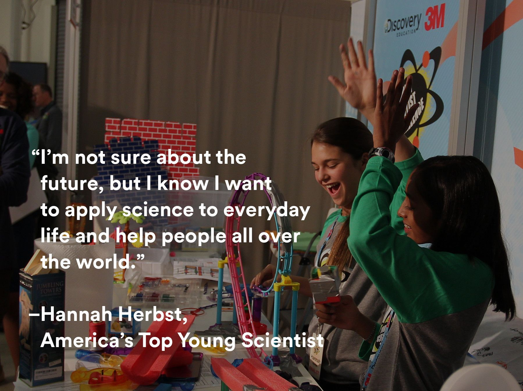 Inspiring words spoken by the winner of the 2015 Discovery Education 3M Young Scientist Challenge. #science #inspiration #quote #STEM #YSC