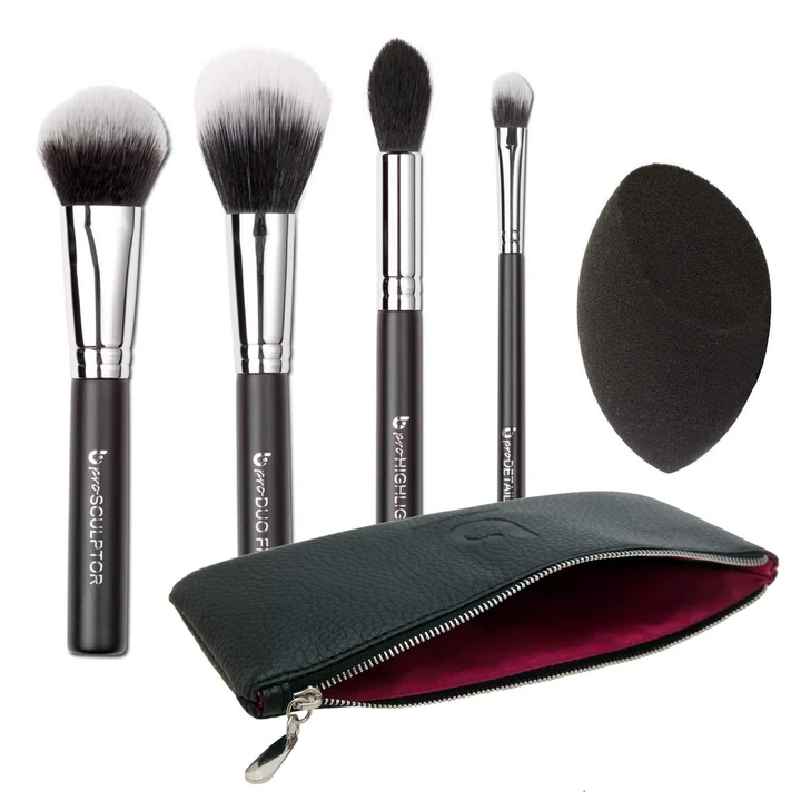pro Contour & Highlighting Makeup Brush Set with Case in