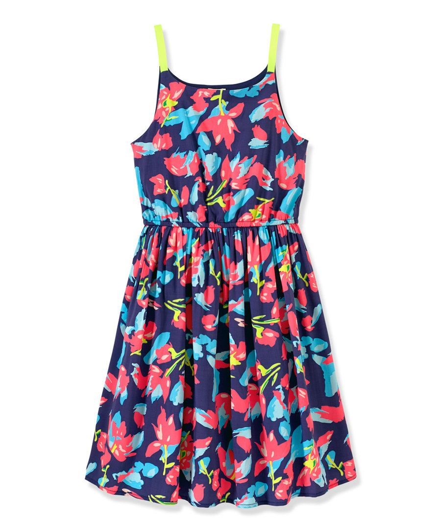 88bb3fe91e5 Look at this RUUM Blue   Pink Floral Dress - Toddler   Girls on  zulily  today!