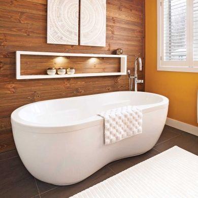 Jeux de contrastes dans la salle de bain d coration - Bain douche nancy ...