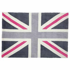 Tapis Union Jack rose 120x180 | Chambre Marion | Pinterest