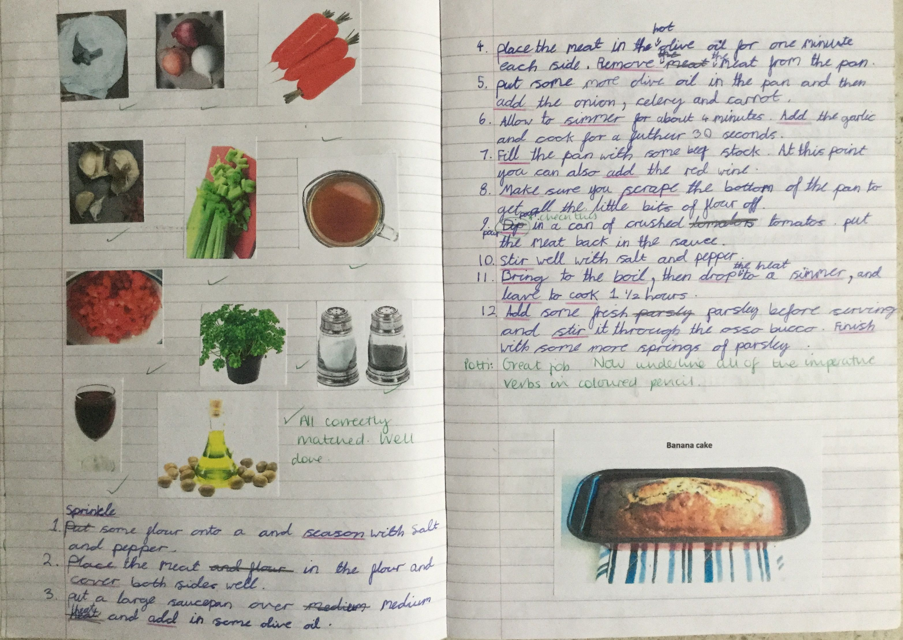 Year 2 Recipe Writing