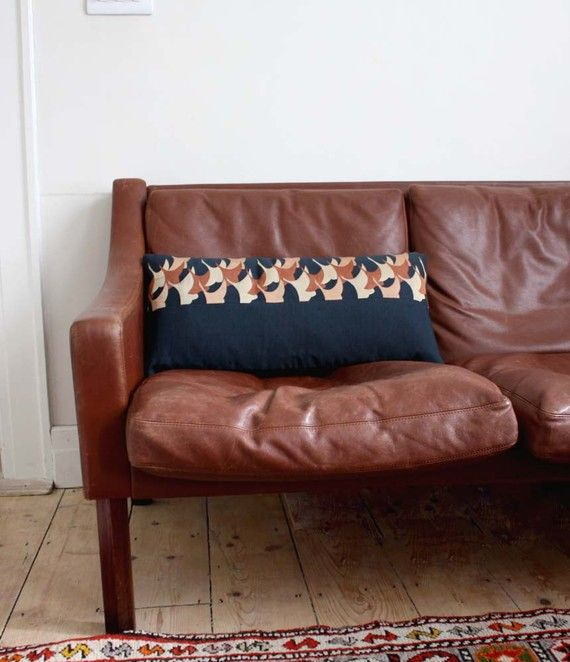 nice brown leather couch.   Home decor, Home, Cute house