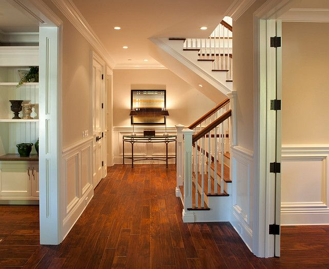 Lovely foyer design with staircase dutch colonial home - Colonial style homes interior design ...