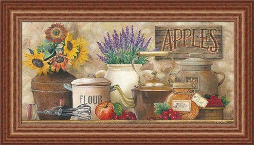 Stampe Per Cucina Country : Amazon antique kitchen by ed wargo country kitchen décor
